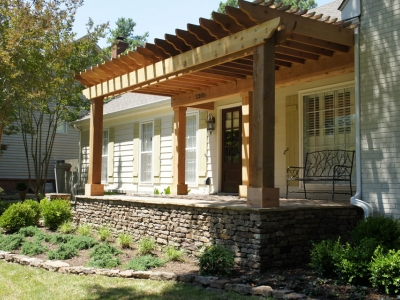 Wood Stone Porch