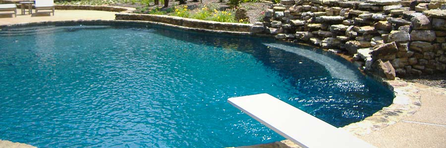 custom pool design showing in-ground pool construction