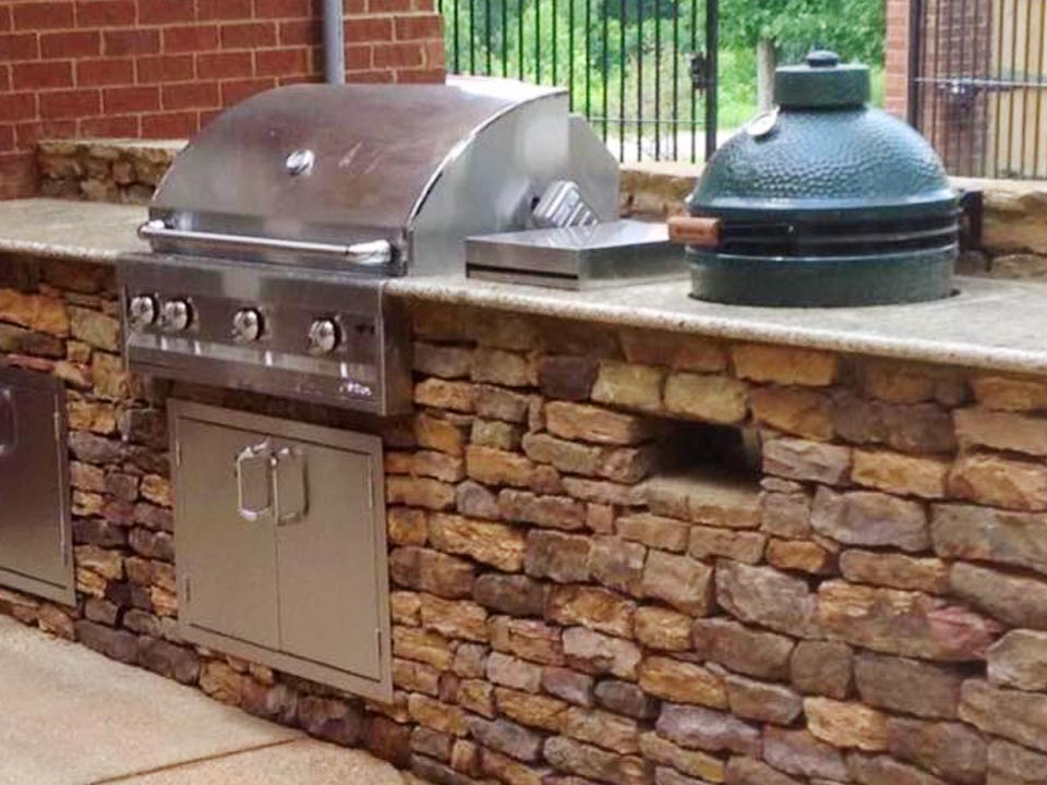 outdoor grill and bar
